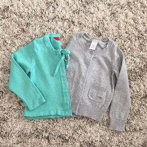 Bundle of Two Girl's Cardigans/Sweaters - Size 4